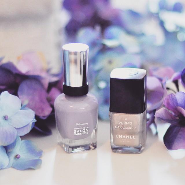 spring nails_lavender polish