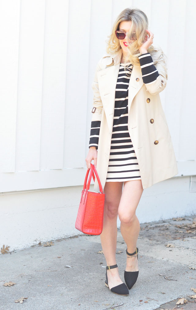 spring outfit with trench coat