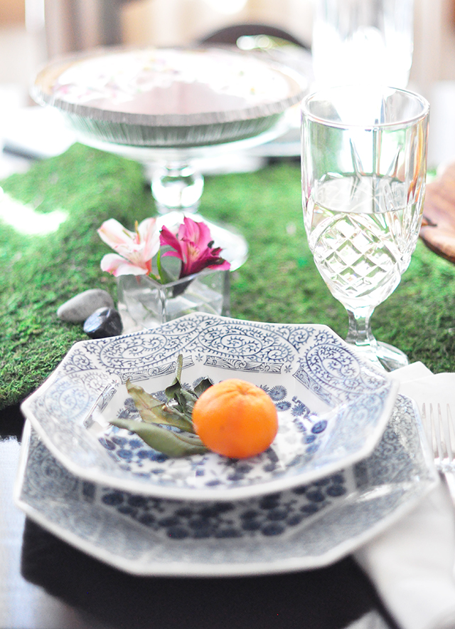 spring tabletop decor and settings