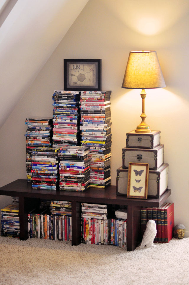stacking dvds