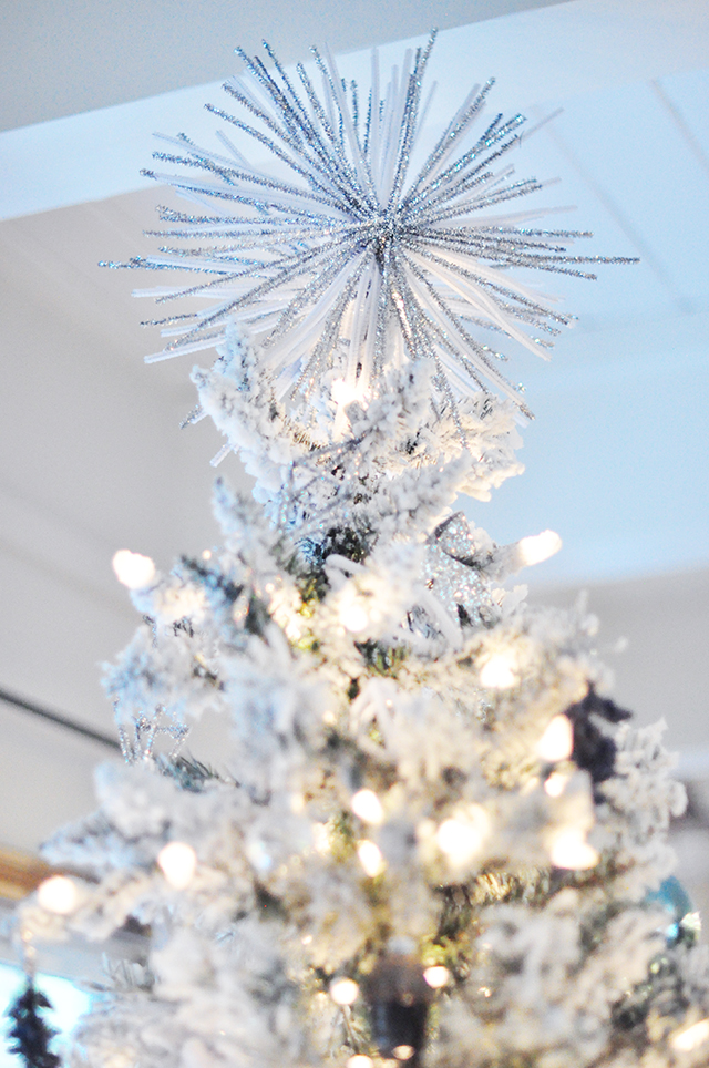 starburst tree topper DIY with pipe cleaners