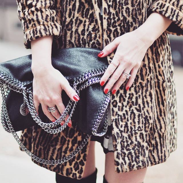 stella mccartney falabella bag_leopard print coat