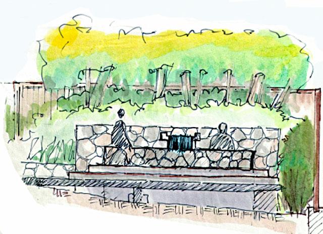 stone spa area concept