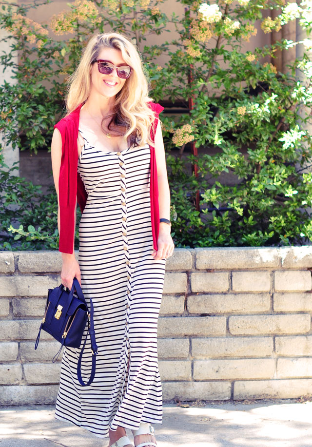 striped maxi with red white and blue