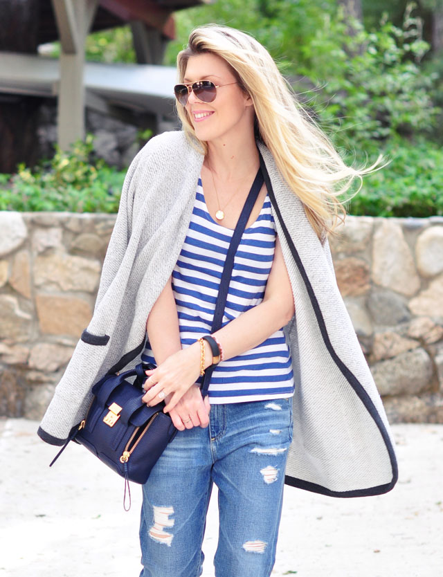 stripes and boyfriend jeans-summer casual