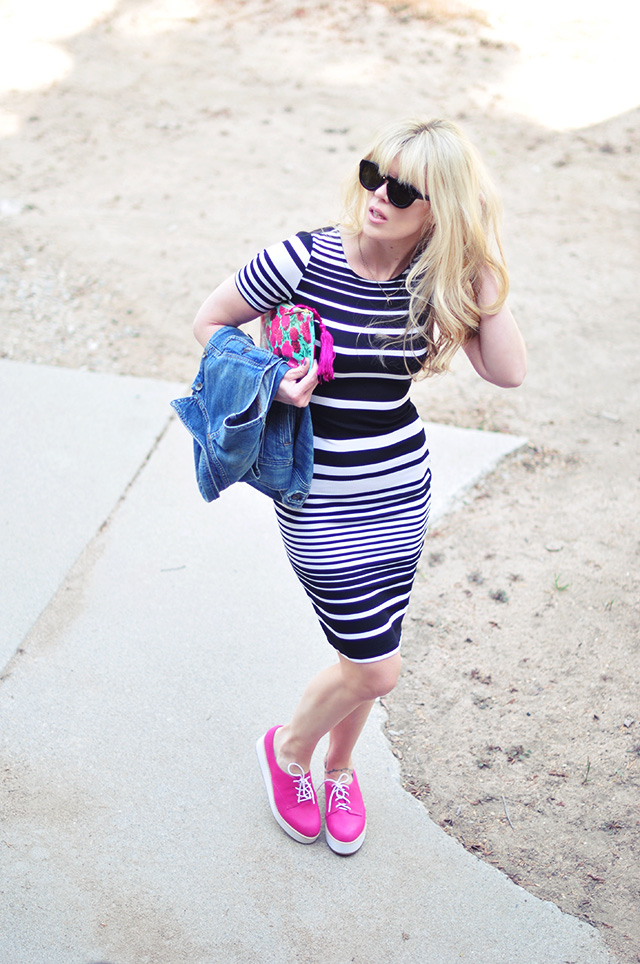 stripes for spring+pink lace ups