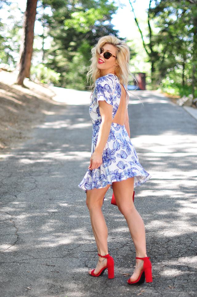 summer dress_blue white red