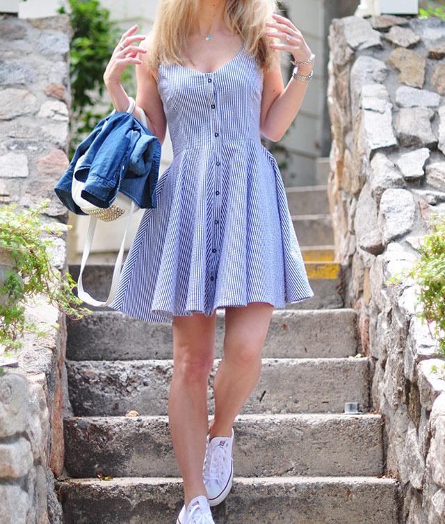 summer dress_button up shirt dress