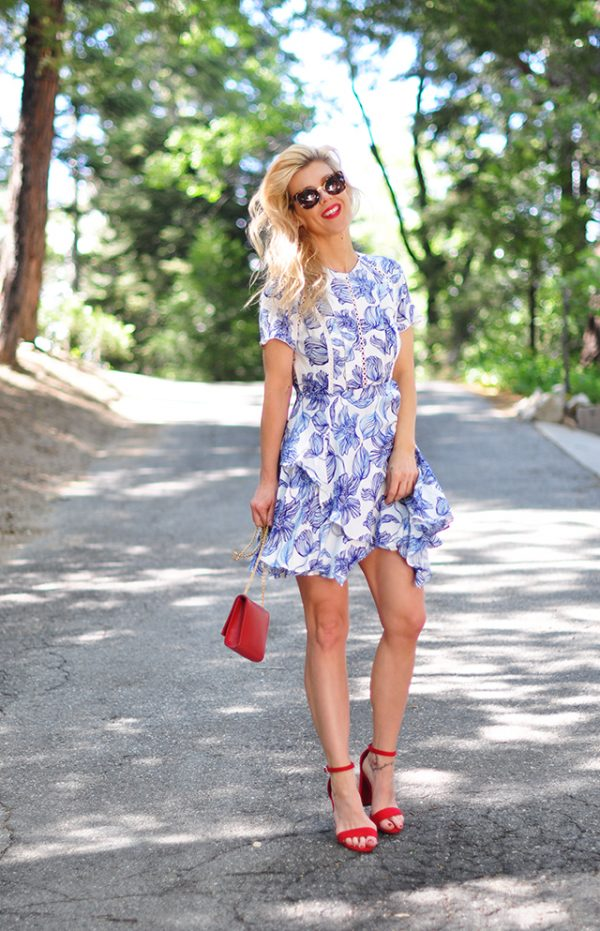 summer dress_red white and blue outfit