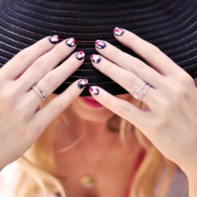 summer hat ikat nails
