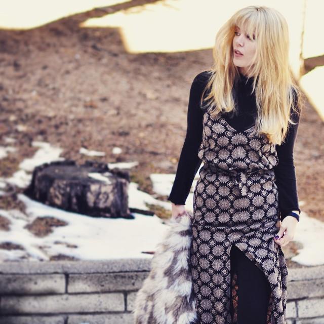 summer maxi dress for winter