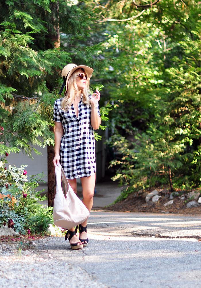 plaid shirtdress summer style - love maegan tintari