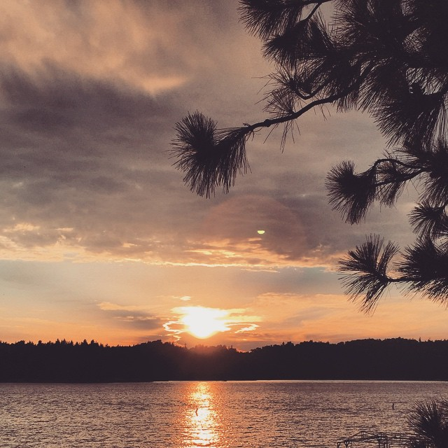 sunset on the lake_lake arrowhead-california