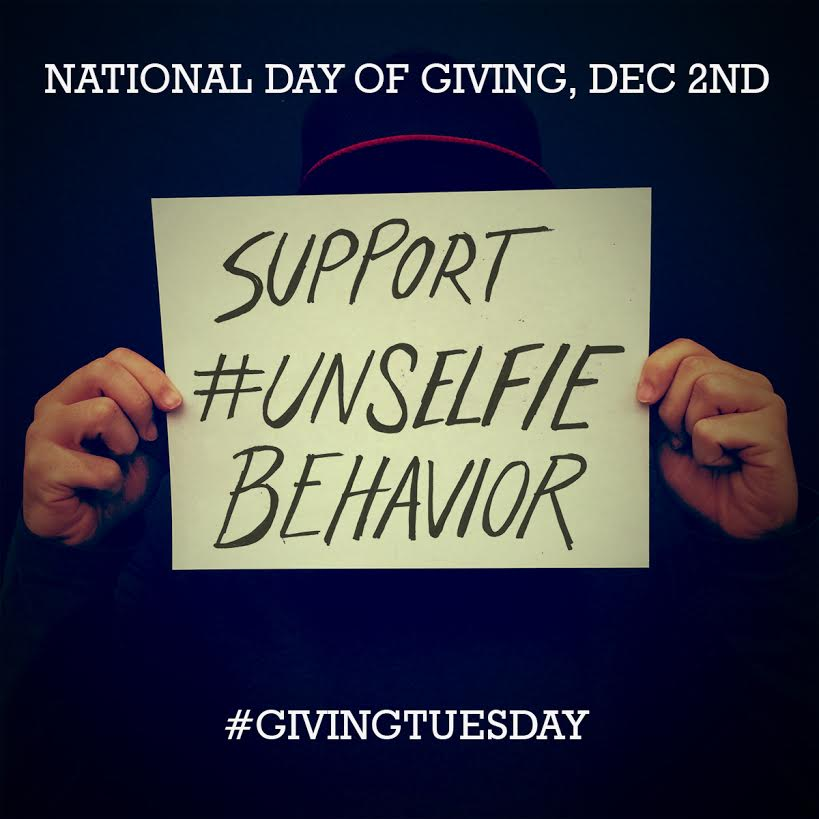 Giving Tuesday #UNselfie support