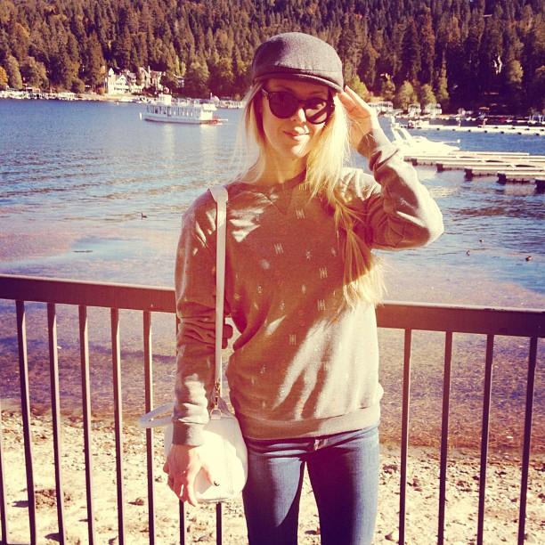 sweatshirt by the lake