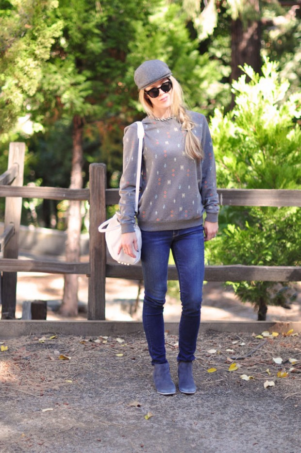 sweatshirt with jeans-hat and boots