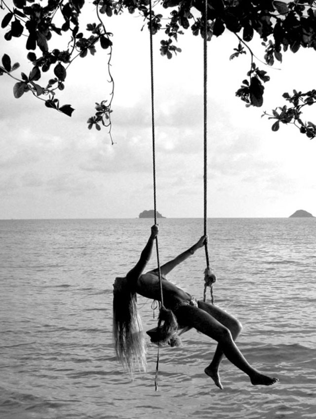 swing over the water