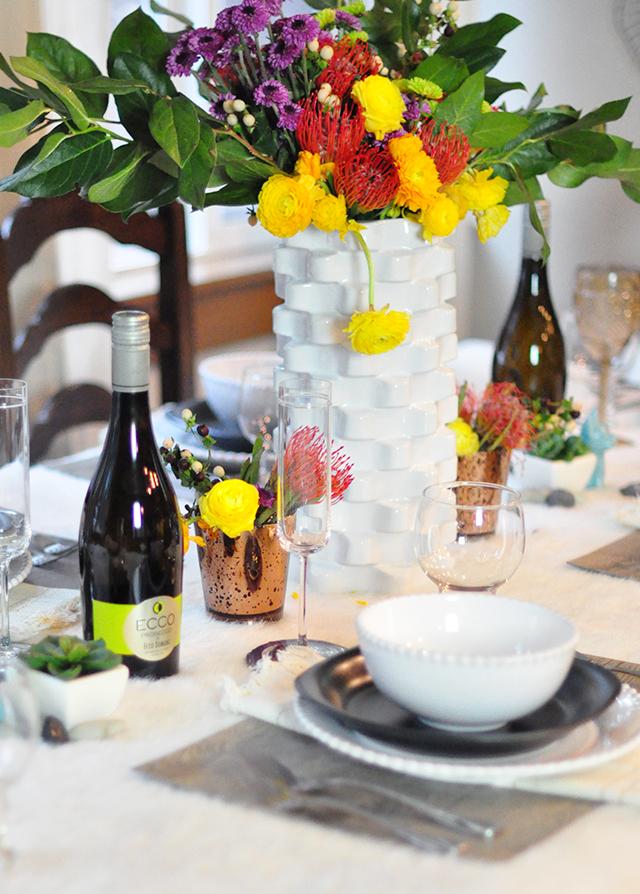 tablescape_wild flowers_ecco domani wine