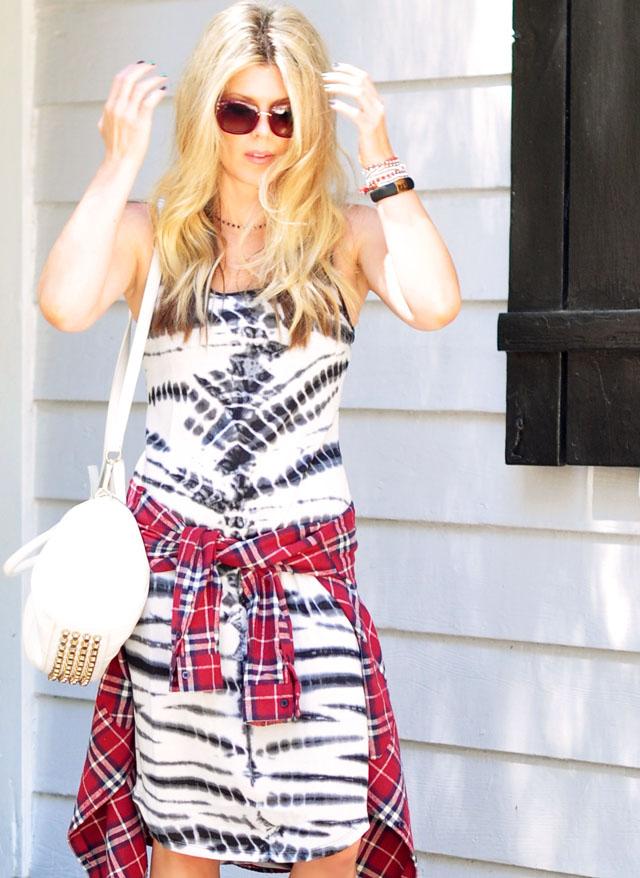 #targetstyle dress-alexander wang bag-plaid flannel waist