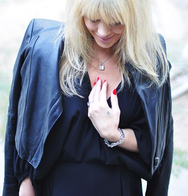 tiffany lock necklace_leather jacket