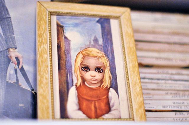 tiny keane big eyes framed print