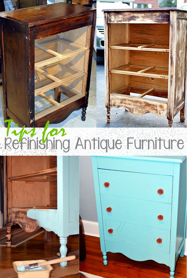 tips for refinishing old furniture