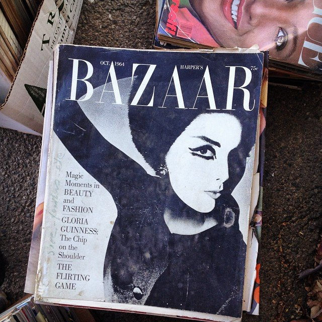 vintage bazaar magazine 1960s