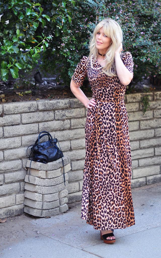 vintage leopard maxi dress
