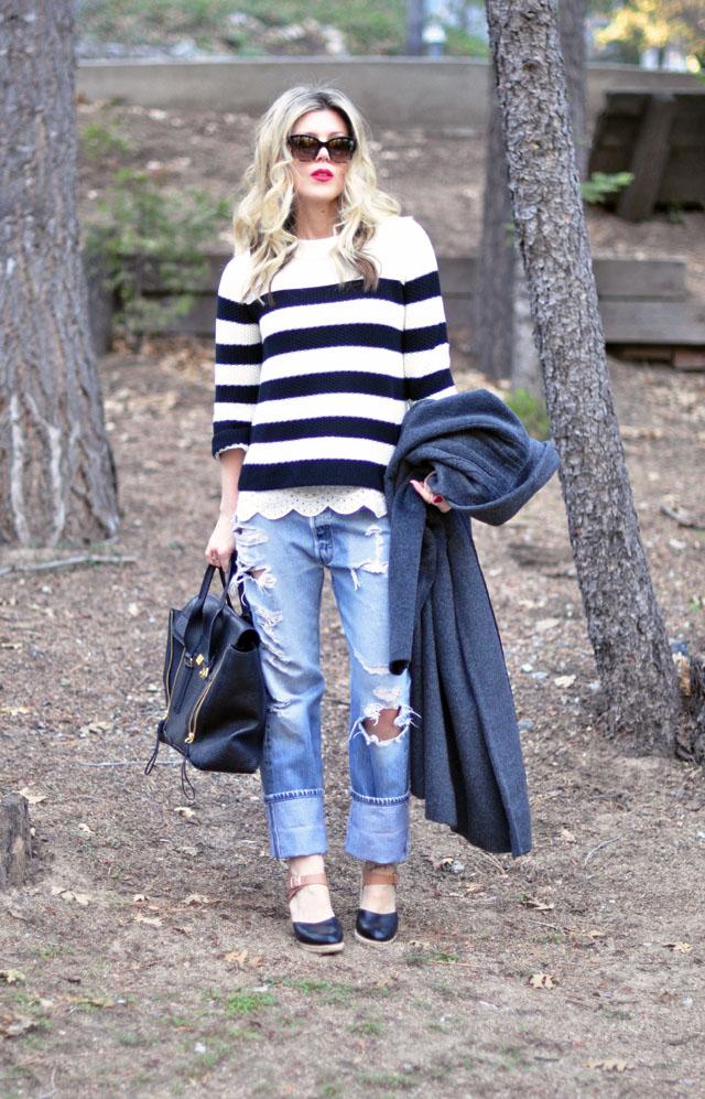 vintage levis-striped sweater-phillip lim bag