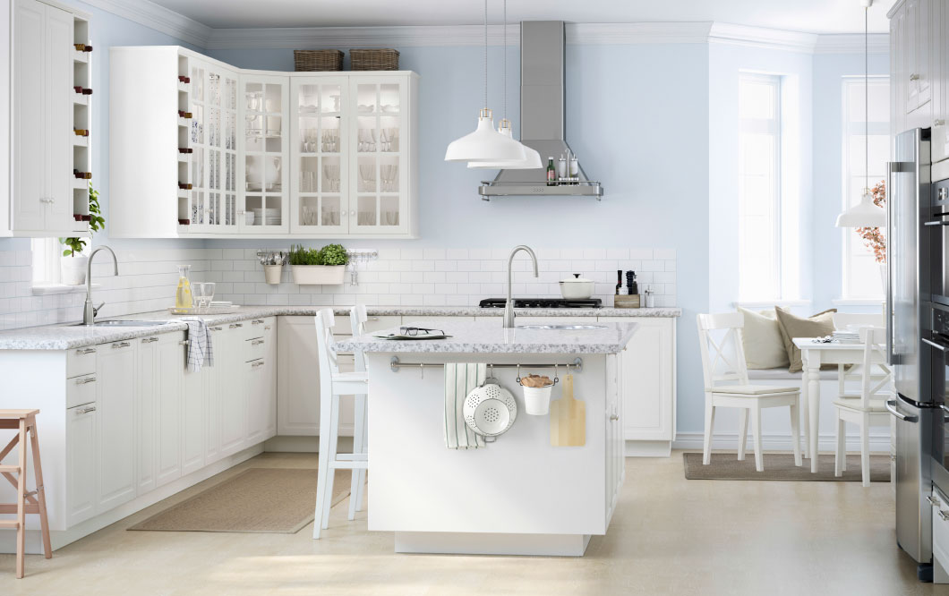 white blue kitchen