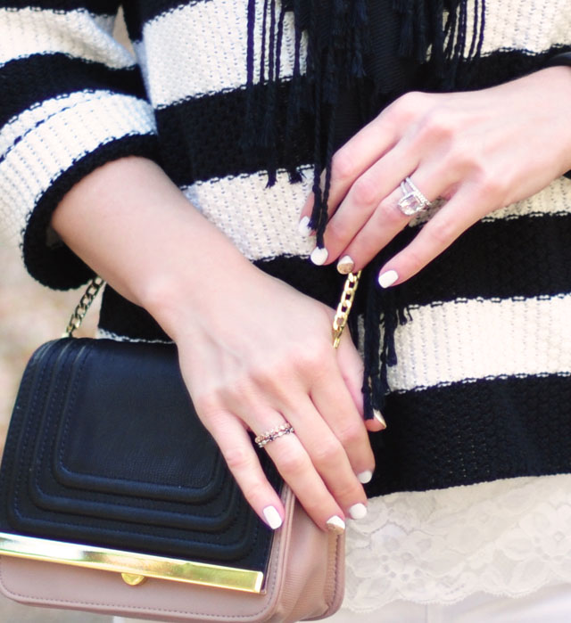white nails for winter