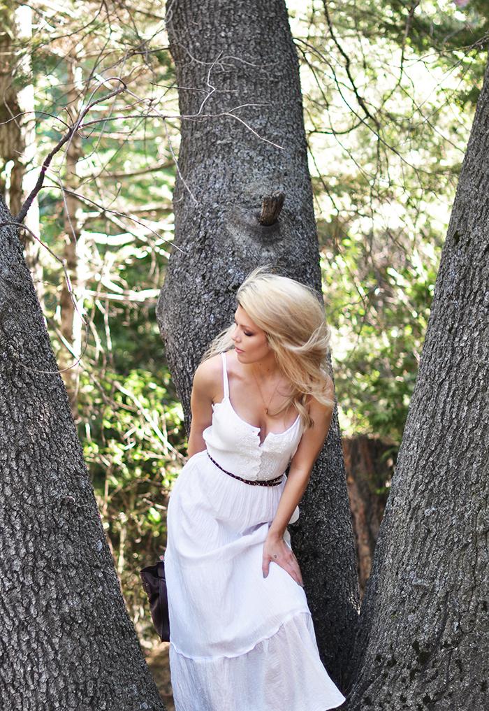 pretty white maxi dress - love maegan tintari