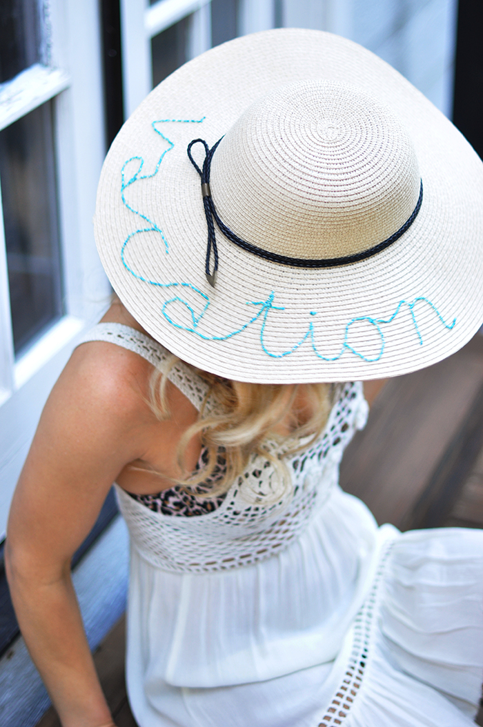 wordy summer sun hat_ vacation
